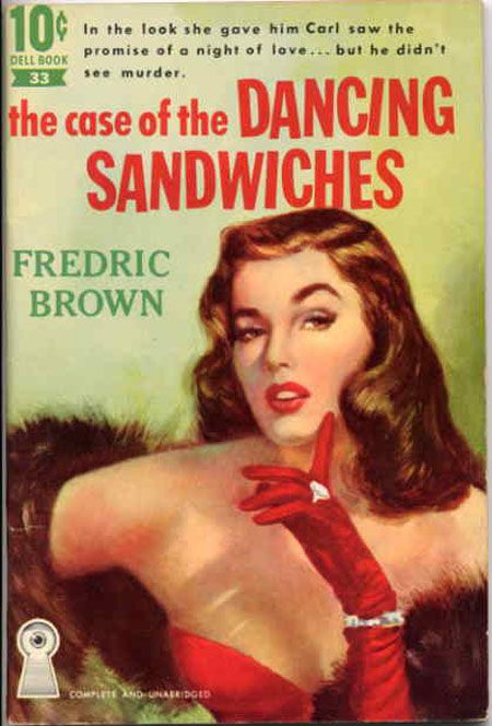 Case of the Dancing sandwich Poster reproduction. Vintage  pulp book cover