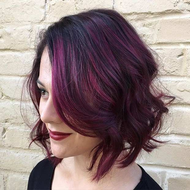 21 Amazing Dark Red Hair Color Ideas Short Bob Styles Dark Red