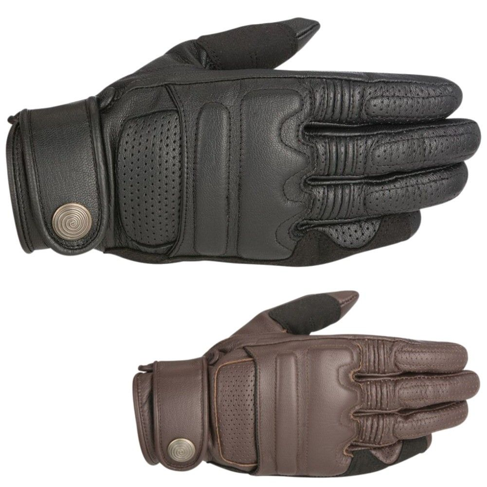 Motorcycle gloves san francisco - Alpinestars Mens Adult Robinson Leather Street Bike Riding Moto Motorcycle Glove