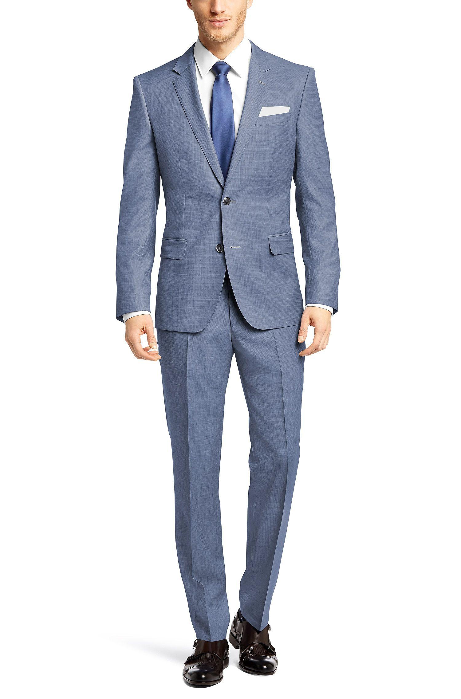 8f77a808c BOSS 'Hutson/Gander' | Slim Fit, Super 100 Italian Virgin Wool Suit Light  Blue free shipping
