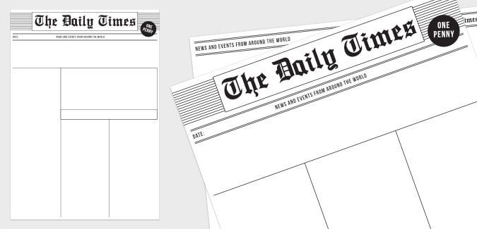 Old Newspaper Article Template Teaching Pinterest Newspaper