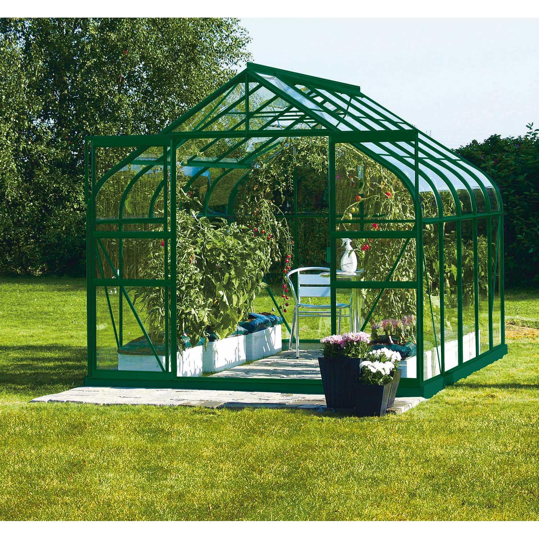 Serre De Jardin En Verre Trempe Diana 8 25 M Lams Serre Jardin Serre En Verre Et Lanterne Jardin