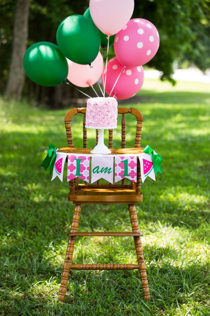 WATERMELON BIRTHDAY BANNER / First birthday girl. I am one