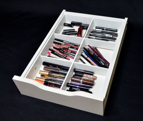6 divider drawer organizer fits alex 9 drawer unit Makeup drawer organizer ikea
