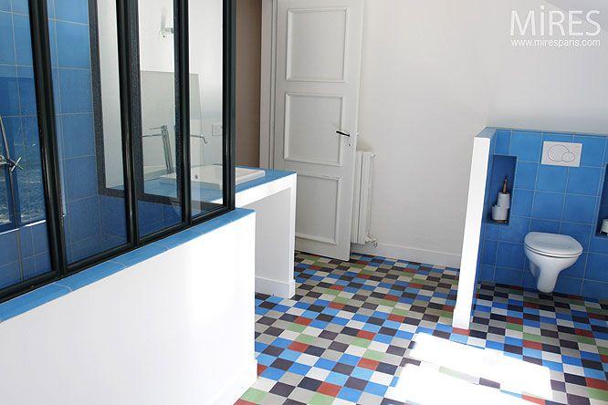 Pin by Lolette Costudi on Salle de bain Pinterest - salle de bain en bleu