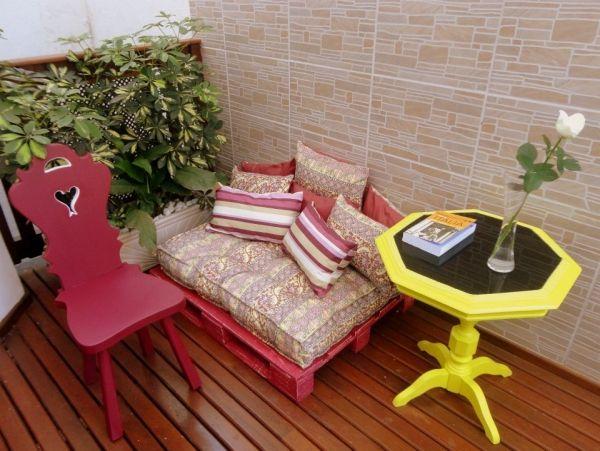 Palettenmöbel selber bauen sitzecke balkon sofa Palette - wohnideen zum selber bauen