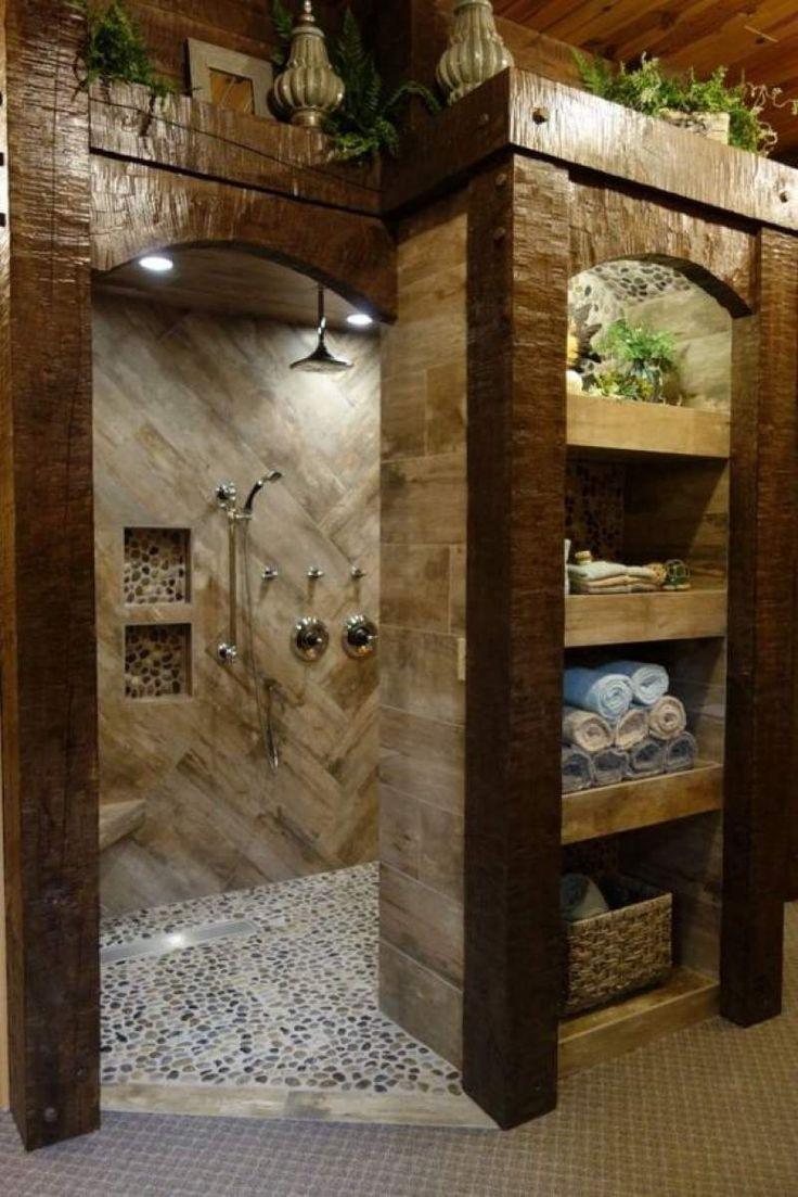 Badezimmer Umbau Ideen Badezimmer Ideen Umbau Diy Garden Deko In 2020 Rustic Bathroom Designs Rustic Bathrooms Rustic House