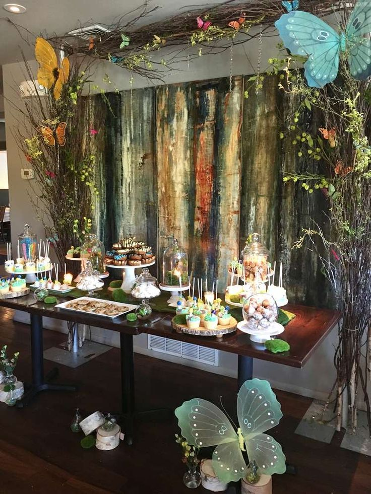 Enchanted forest baby shower party ideas forest baby for Rainforest decorations