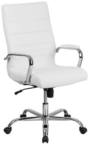 Kaden White Swivel Desk Chair Art Van