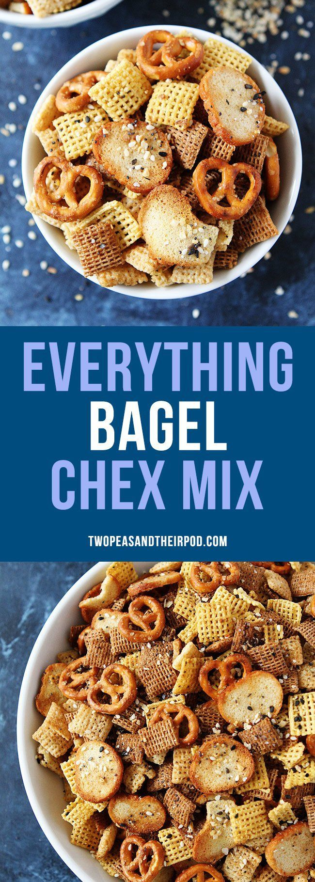 Everything Bagel Chex Mixclassic Chex Party Mix with an