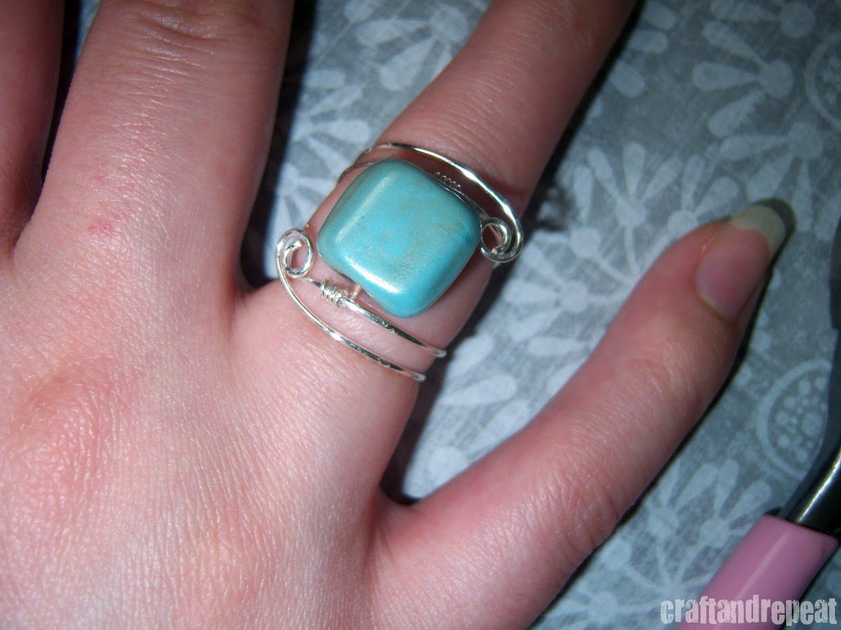 Wire Wrapped Ring – Free Tutorial | Wire wrapping, Tutorials and Wraps