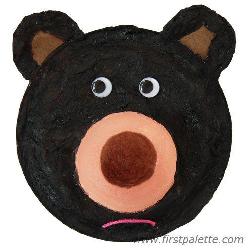 Fuzzy Paper Plate Black Bear  sc 1 st  Pinterest & Fuzzy Paper Plate Black Bear   Winter crafts   Pinterest   Bears ...