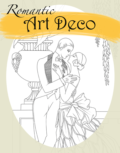 Lovely Art Deco for Adult Coloring ~ In print now! erotic ...