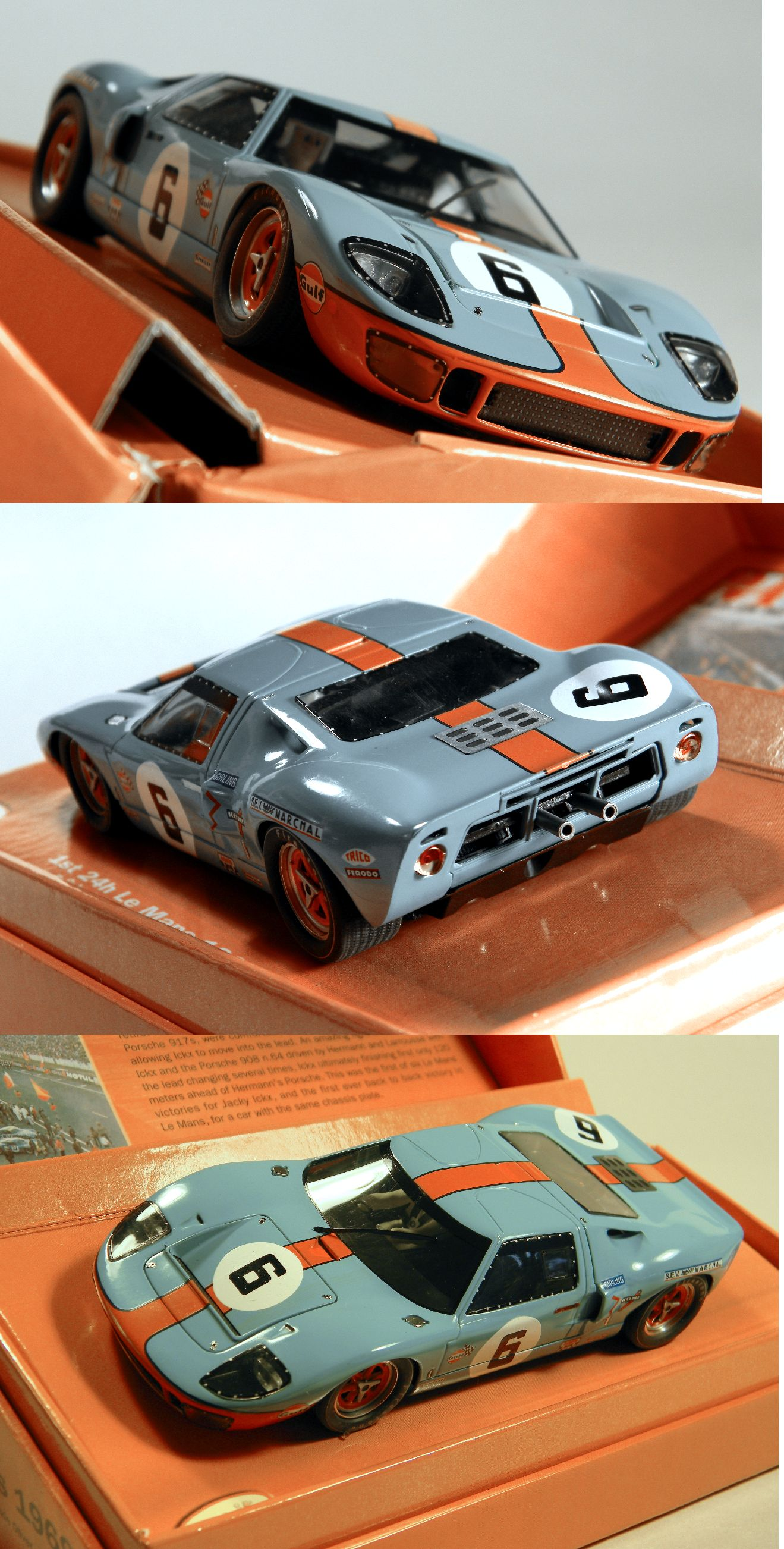 1970 Now 4781 Slot It Cw09 Ford Gt40 1st Le Mans Ickx And Oliver