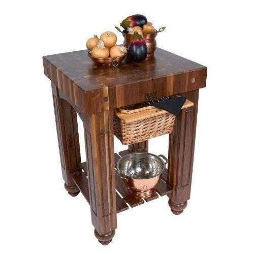 48x24 Butcher Block Table Wicker Baskets: $2,139.00-$2,675.00 John Boos Walnut Gathering Block