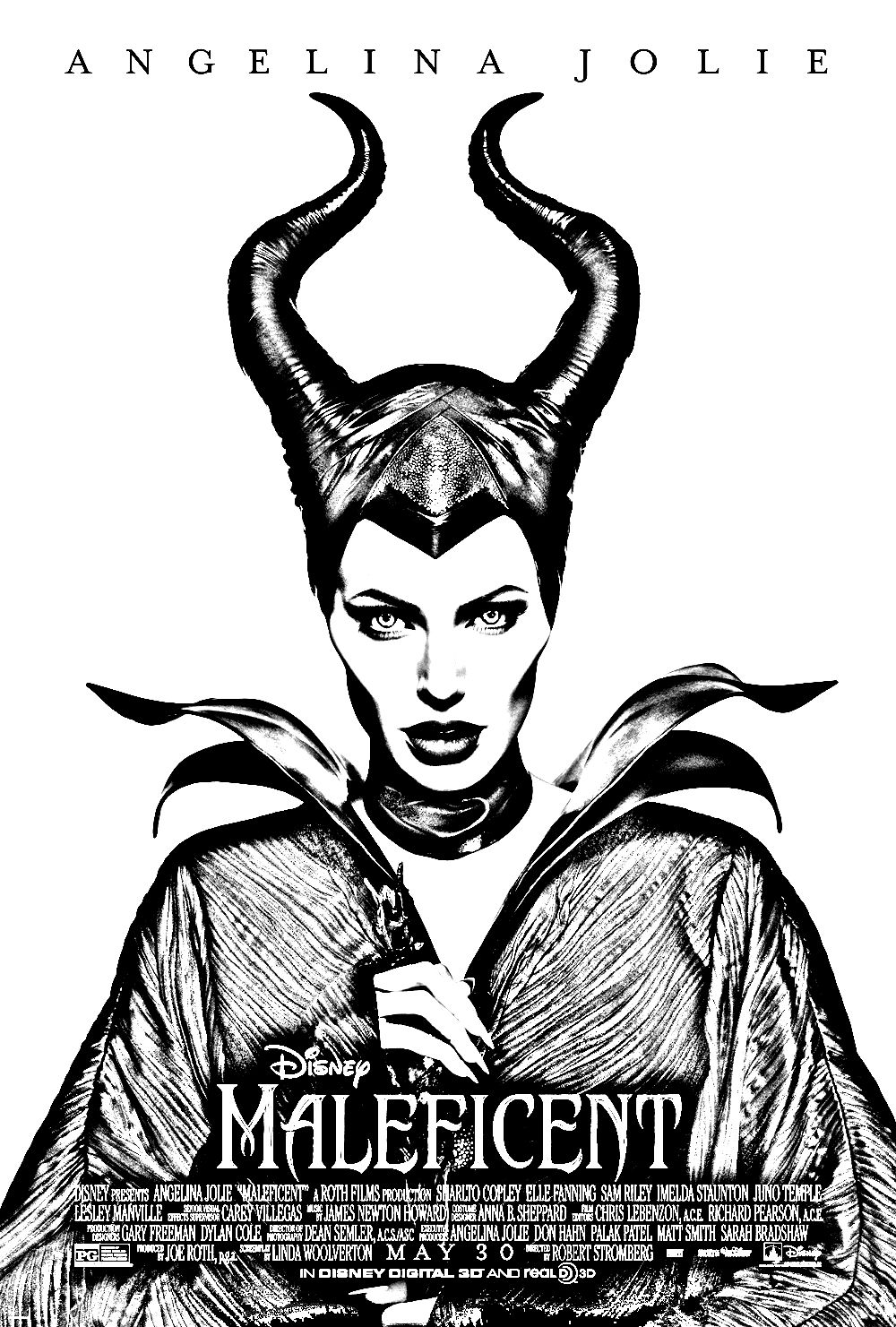 free coloring page coloring maleficent affiche us angelina jolie