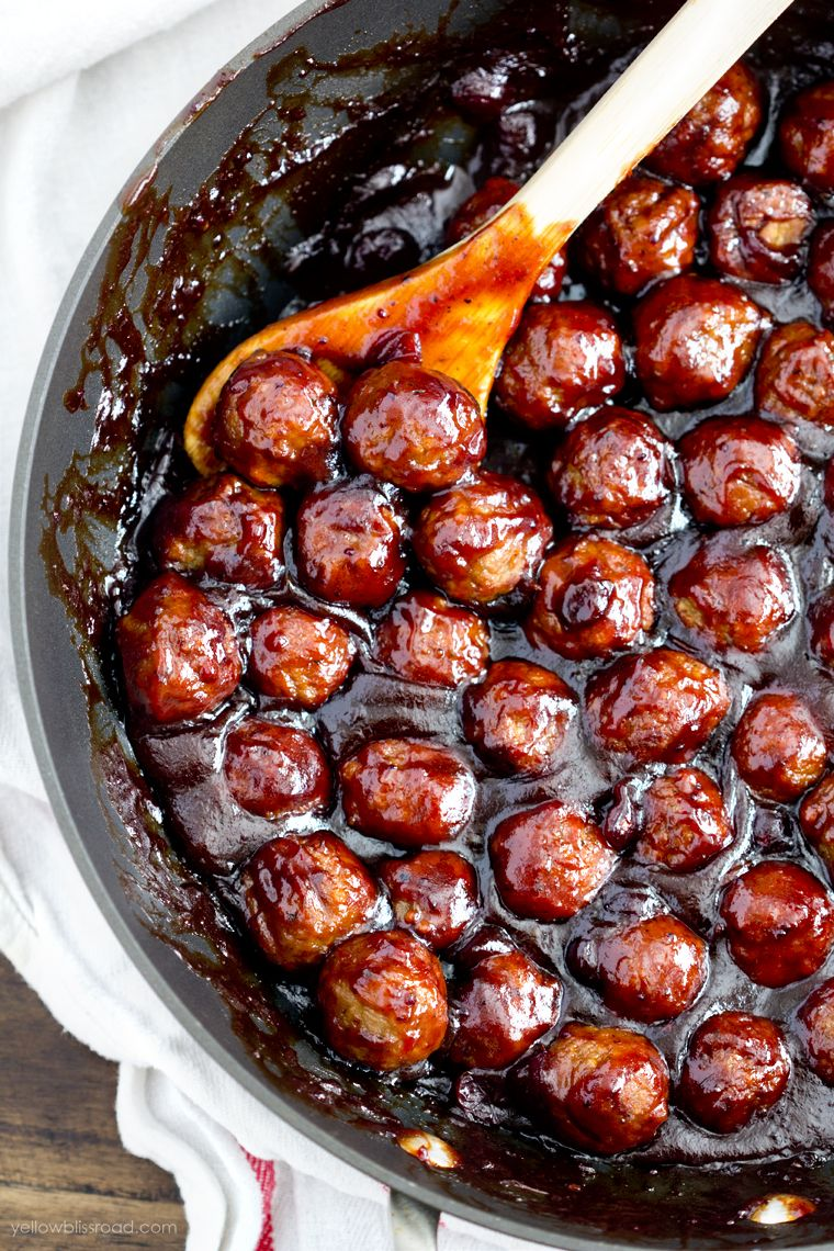 Easy Cranberry BBQ Meatballs (Stovetop or Slow Coo