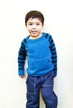 KYLE by Joah Love. Slim fit sweatshirt for little boys? Love it!  $55