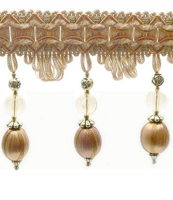 H27-C Bead & Ball Fringe - Antique | Online Discount Drapery Fabrics and Upholstery Fabric Superstore!