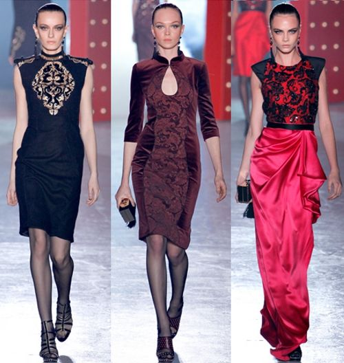 Asian inspired trend: Jason Wu. Mandarin Collar!
