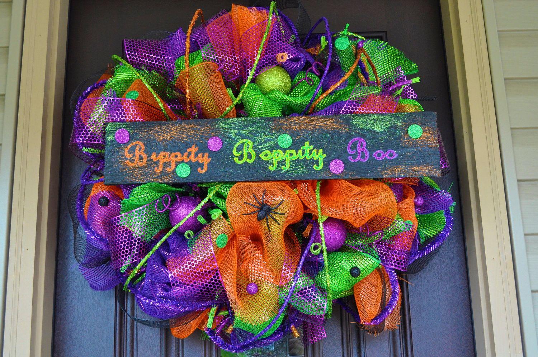 Bippity Boppity Boo Halloween Wreath, Halloween Wreath, Halloween, Wreath, Halloween Decoration, Halloween Decor, Spooky, Spooky Wreath. $150.00, via Etsy.