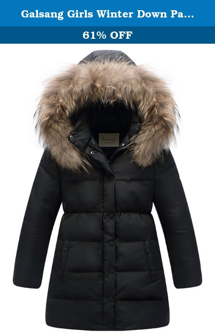 97fe96cd172a Galsang Girls Winter Down Parka Thick Hooded Outwear Coat  0158 ...