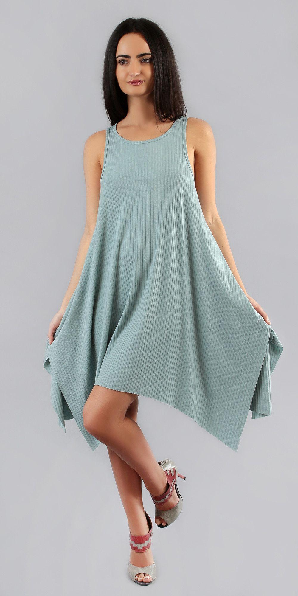 Asymmetrical ribbed tank dress ribbed tank dress