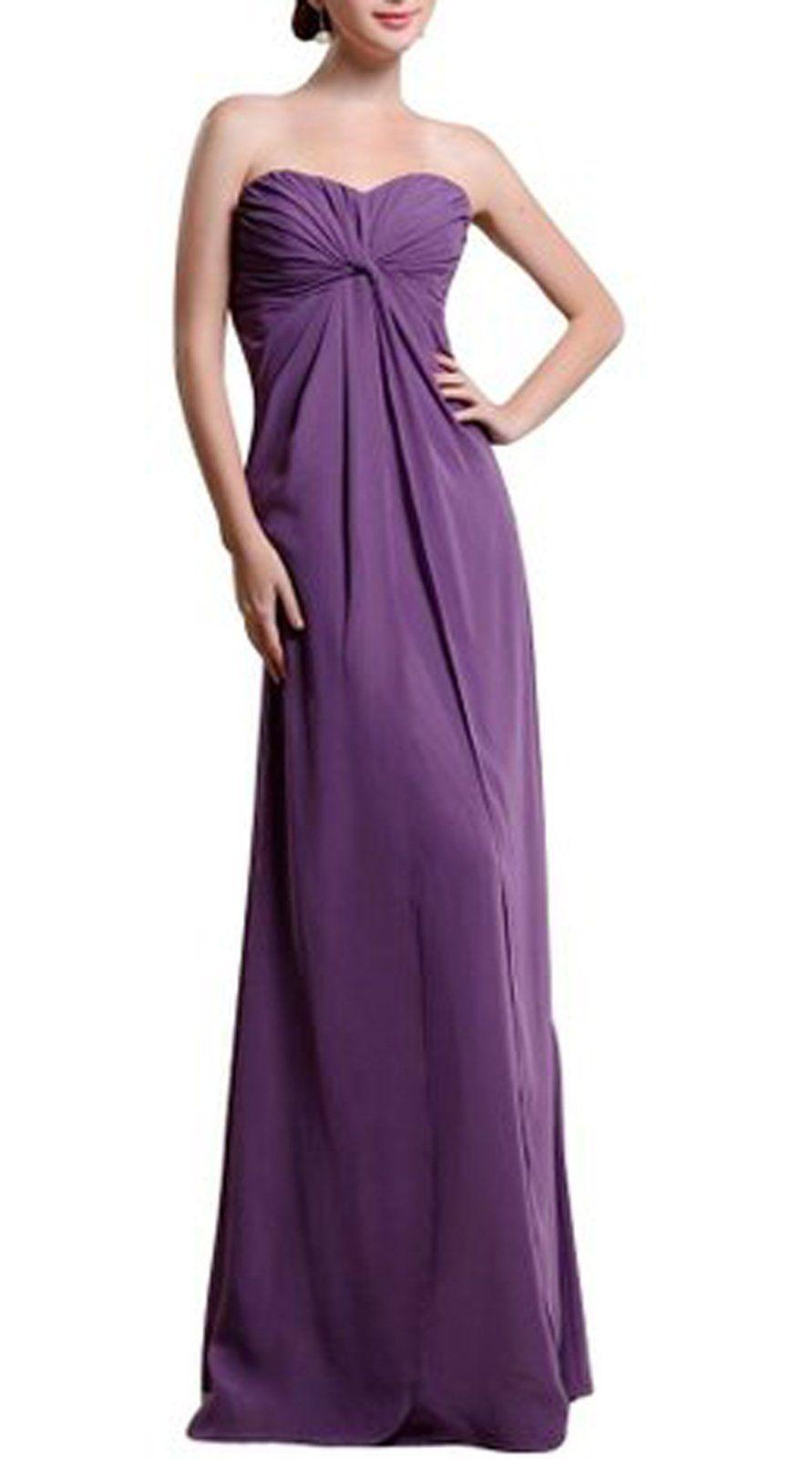maillsa chiffon strapless bridesmaid dress evening dress prom dress ...