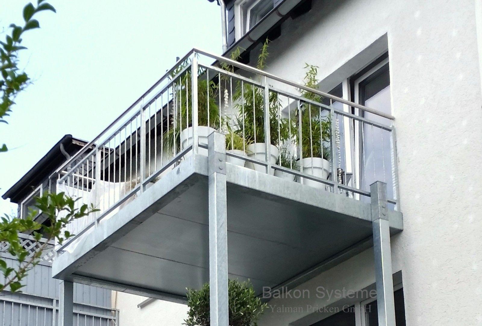 anbaubalkon mit treppe