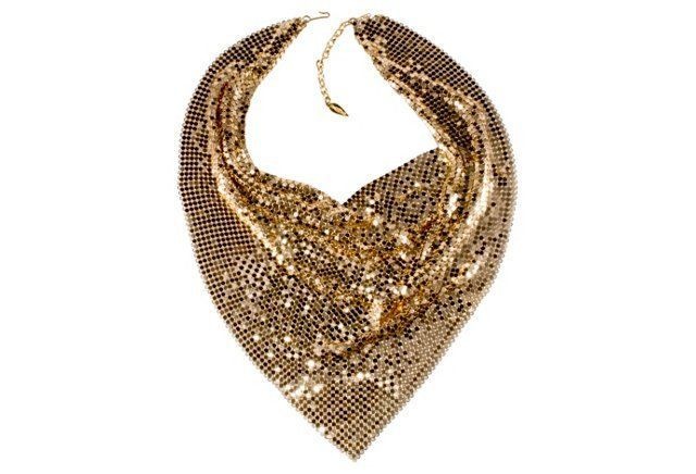 Whiting & Davis Golden Mesh Necklace