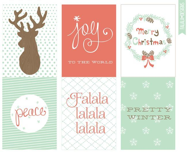 Free Christmas/Winter 4x3 Printables from falala designs - free printable merry christmas cards