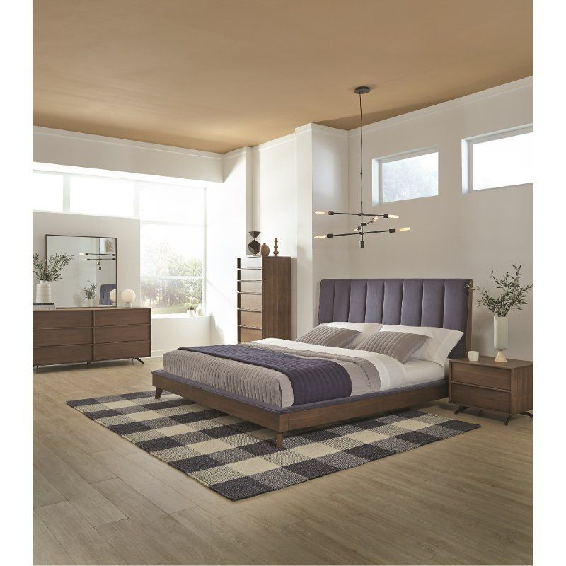 Mid Century Modern 4 Piece Queen Bedroom Set - Kamden ...