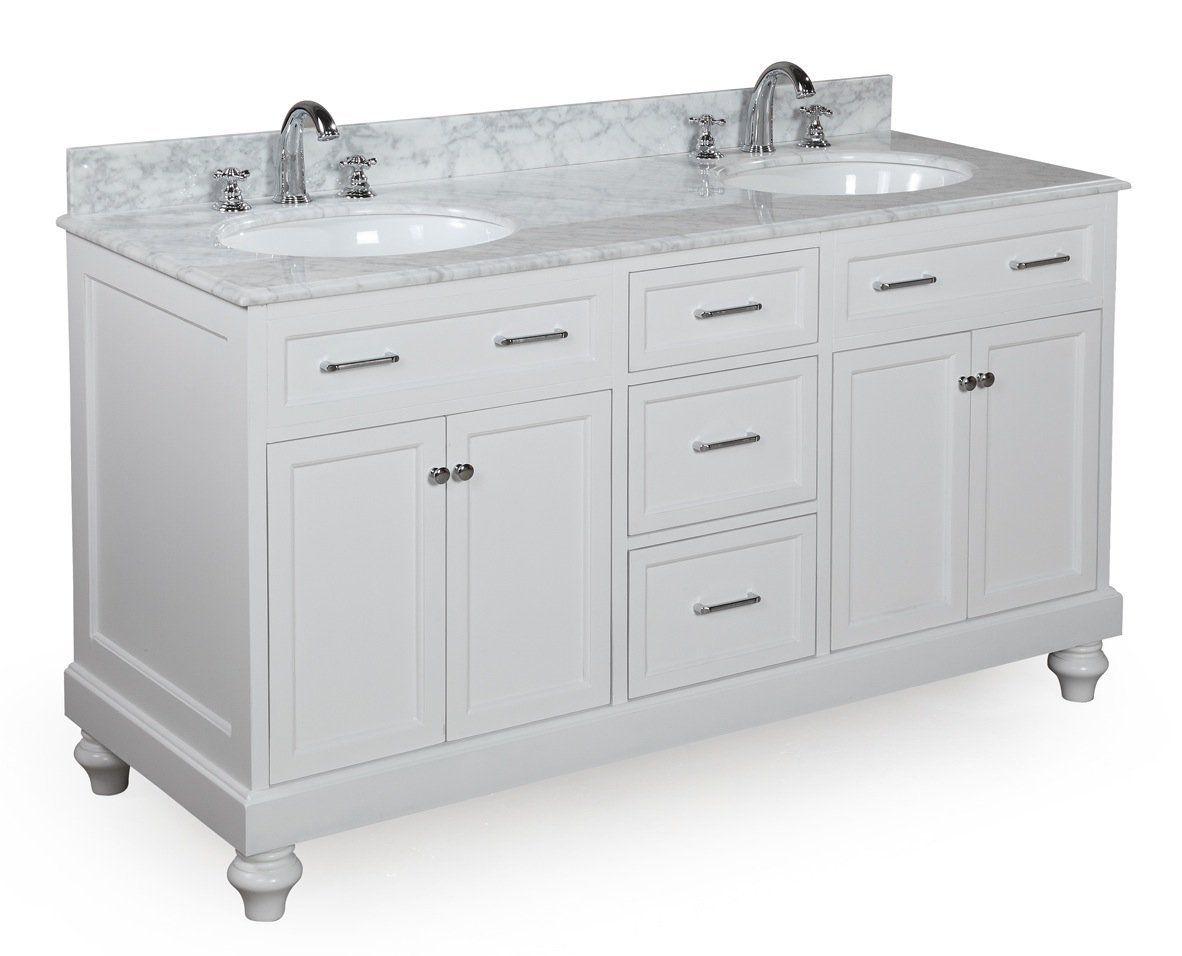 Amazon amelia inch bathroom vanity carrerawhite includes