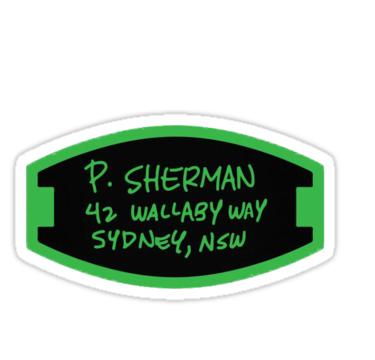 P Sherman 42 Wallaby Way Sydney Nsw Sticker By Dolf1738 42 Wallaby Way Wallaby Silhouette Diy