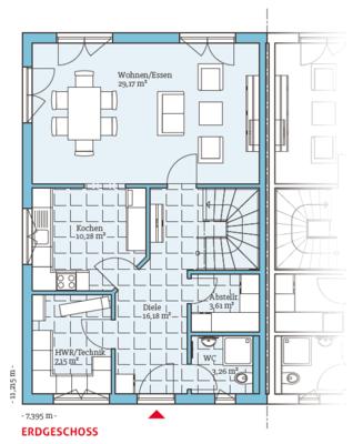 Energiesparendes doppelhaus 139 individuelle for Energiesparendes bauen