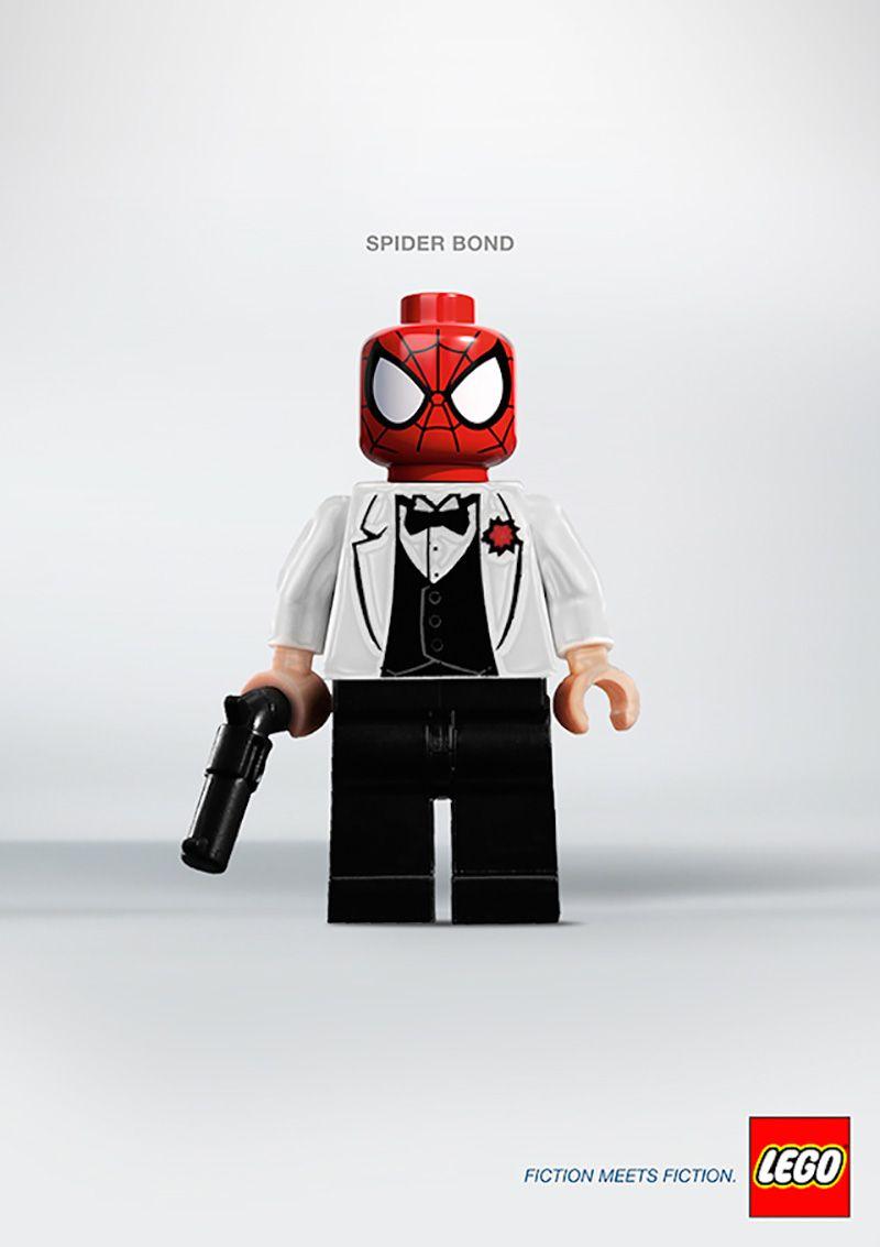 Lego Advert - Fiction meets Fiction, Spider Bond