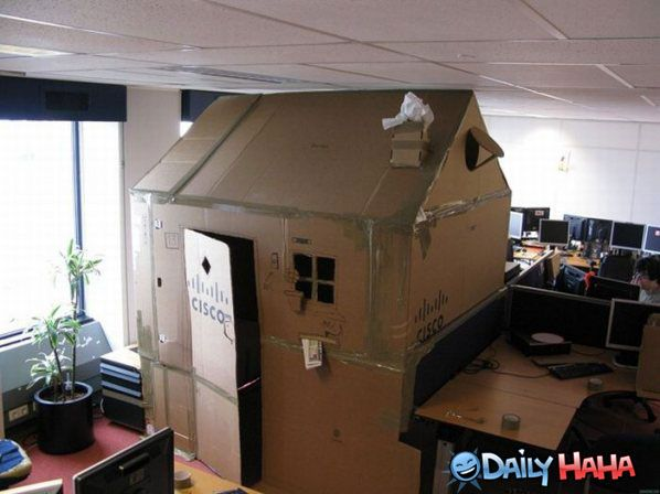 Cubical be damned i need an office fort! lawl. pinterest