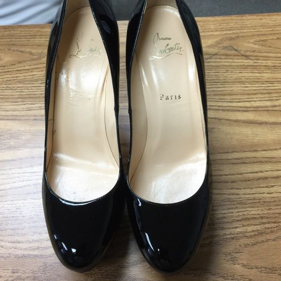 """Black Christian  Louboutin Size 39 ( US 9) only wore once  """" Bianca"""" Christian Louboutin originally $900 selling for $400 Christian Louboutin Shoes"""