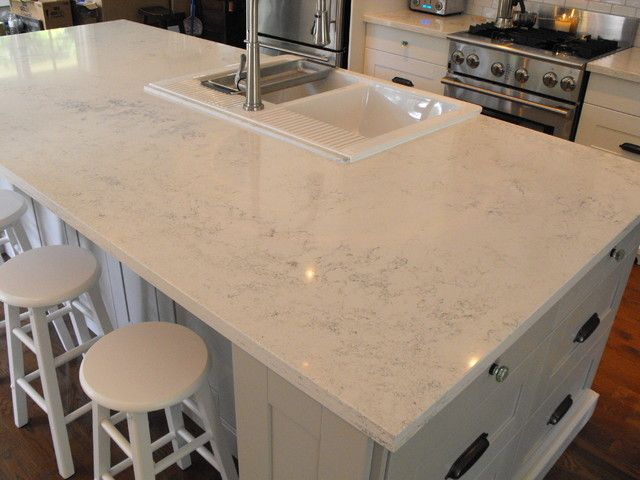 Which Quartz Countertop Looks Like White Marble Engineered Quartz Countertop Is Ikea Quartz Countertop Quartz Kitchen Countertops Kitchen Remodel Countertops