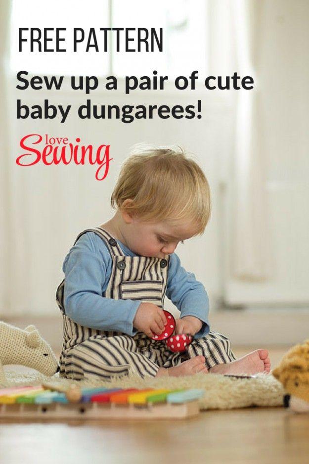 Free Baby Dungarees Pattern! | sewing | Pinterest | Babykleidung ...