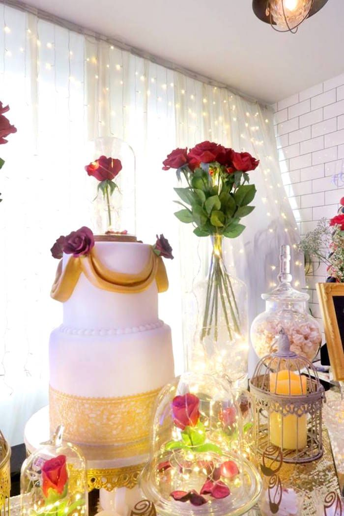 Beauty And The Beast Inspired Wedding Dessert Table Kara S Party Ideas