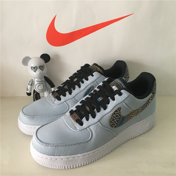 NIKE AIR FORCE 1 07 LV8 AFRO PUNK DENIM ARMORY BLUE WHITE 718152 407 #nike