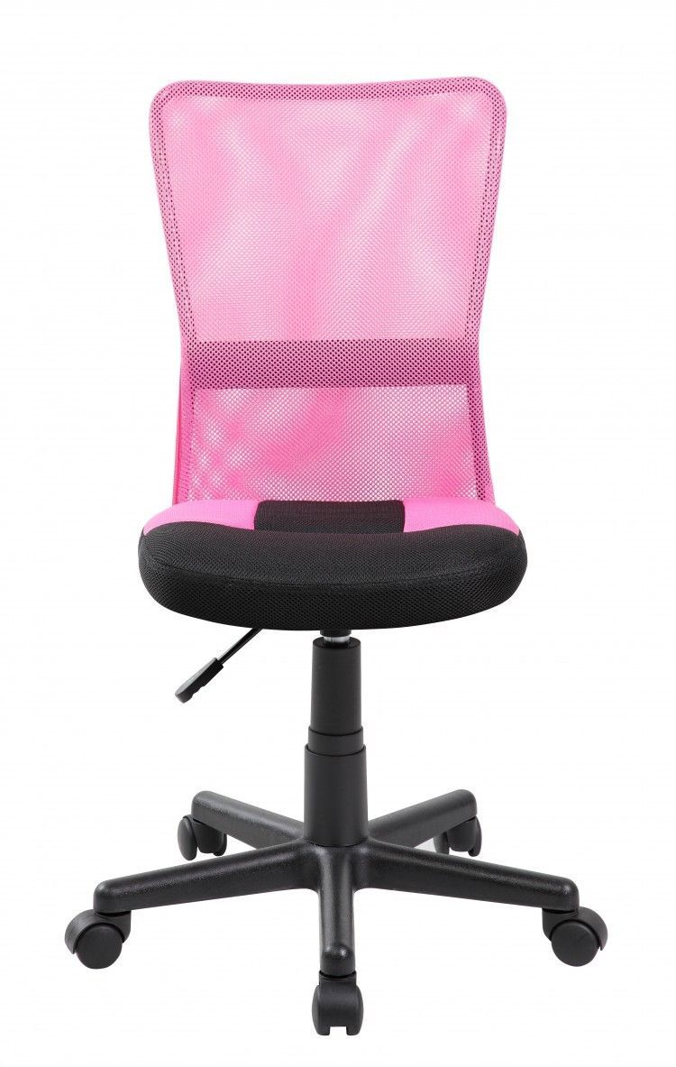 Computer Office Desk Chair Pink Swivel Back Support