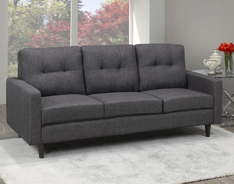 Brassex 3Seater Tufted Sofa, Grey Walmart Canada