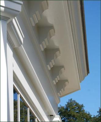 Cellular Vinyl Dentils From Walpole Woodworkers Classic House Exterior Molding And Millwork Architectural Elements
