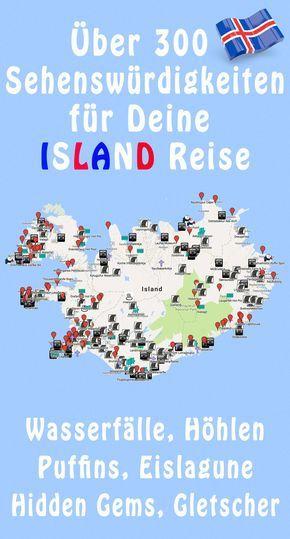 Island Karte Sehenswurdigkeiten 300 Gps Koordinaten Karte