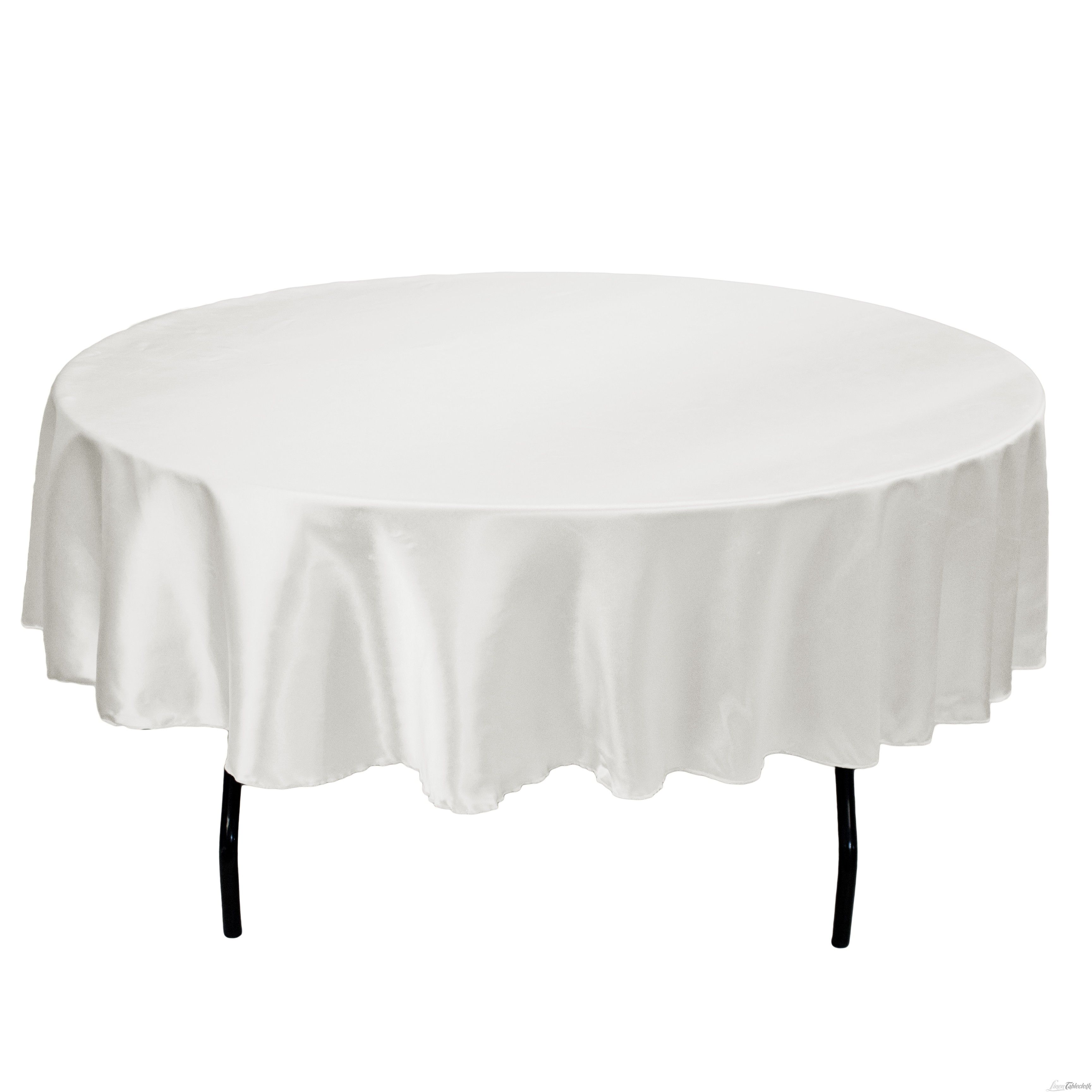 90 Round Satin On 60 Table Available In White Black Ivory