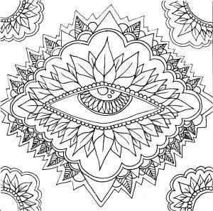 Adult Coloring Pages Eyes 3