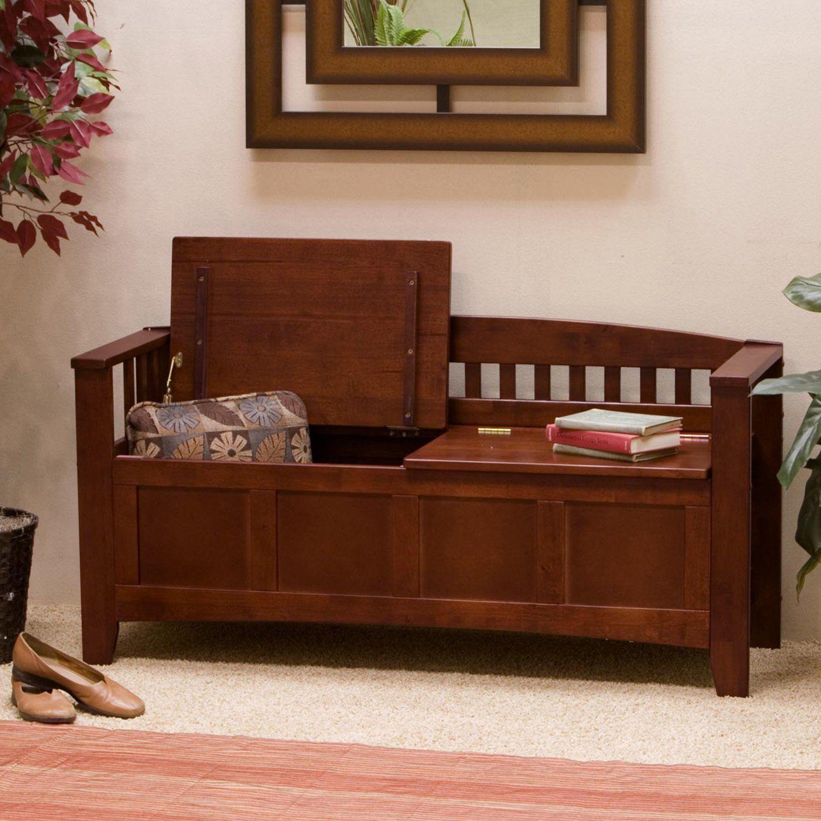 Hunter Storage Bench - Walnut - Graceful and elegant, the Hunter ...
