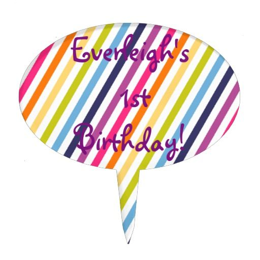 Rainbow Birthday Cake Toppers